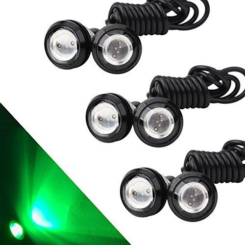 (OSC 6Pcs High Power 23mm Eagle Eye LED 9W DRL Fog Light Daytime Running Lights Car Motorcycle Clearance Marker Lights Lamp)