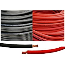 WINDYNATION 6 AWG 6 Gauge Red and Black Welding Lead & Car Battery Copper Cable Wire -- Car, RV, Inverter, Solar, Battery