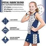 Tennis Dress Set - Sleeveless Racerback Top and