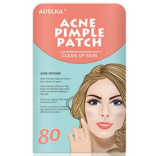 Acne Pimple Master Patch, Acne Spot Treatment, Hydrocolloid Acne Dots for Face (80 Patches) (Best Makeup To Cover Acne Scabs)