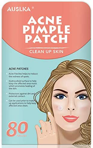 Acne Pimple Master Patch, Acne Spot Treatment, Hydrocolloid Acne Dots for Face (80 Patches)