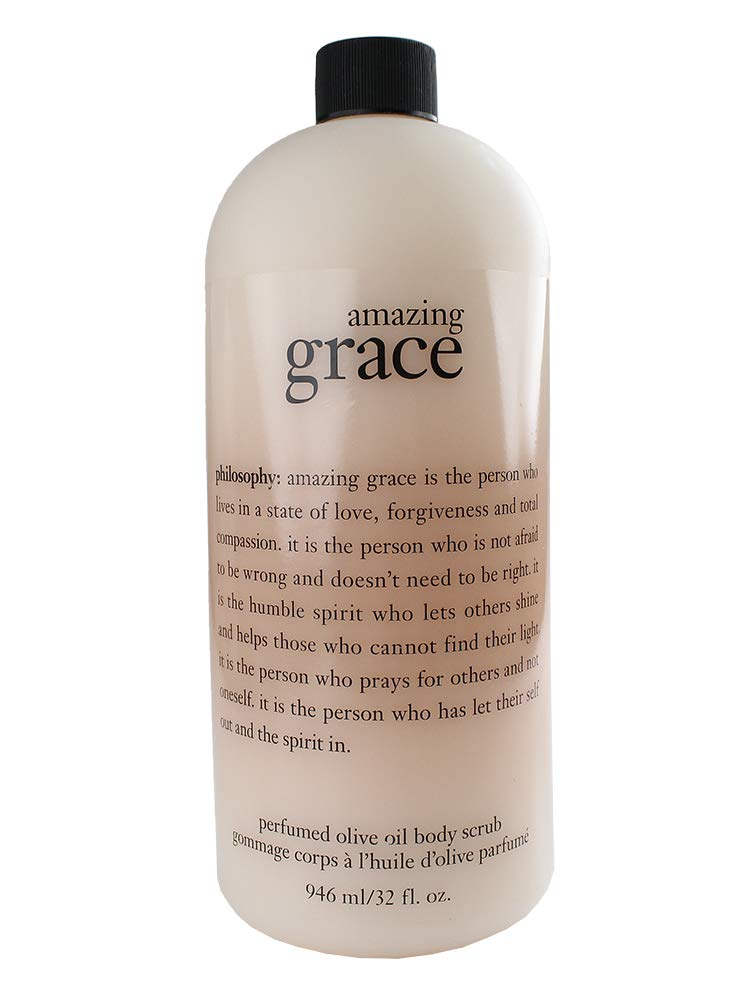 Philosophy Amazing Grace Perfumed Olive Oil Body Scrub 32 Fl. Oz Jumbo Size
