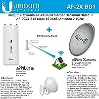 Ubiquiti airFiber 2X AF-2X Radio 2.4GHz + AF-2G24-S45 2.4GHz dish 24dBi Slant 45