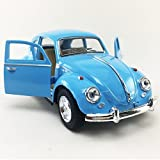 vw beetle model - Kinsmart 1967 Volkswagen VW Classic Beetle Bug Blue 1:32 DieCast Model,Toy,Car,Collectible,Collection