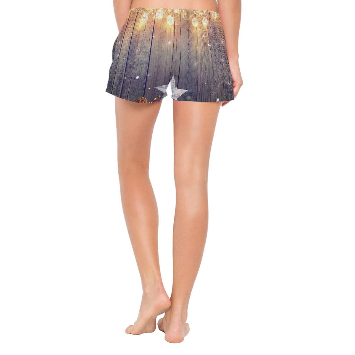 NWTSPY Star Light Womens Sport Beach Swim Shorts Board Shorts Swimsuit with Mesh Lining