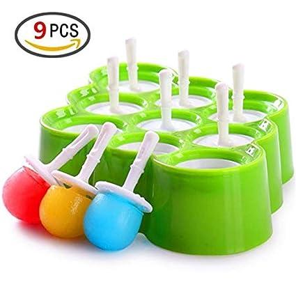 Reutilizable Moldes para helados de silicona mini Moldes para helados de paleta - Juego de herramientas