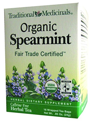 Traditional Medicinals Organic Spearmint herbal tea, Fair Trade Certified, 16 ct