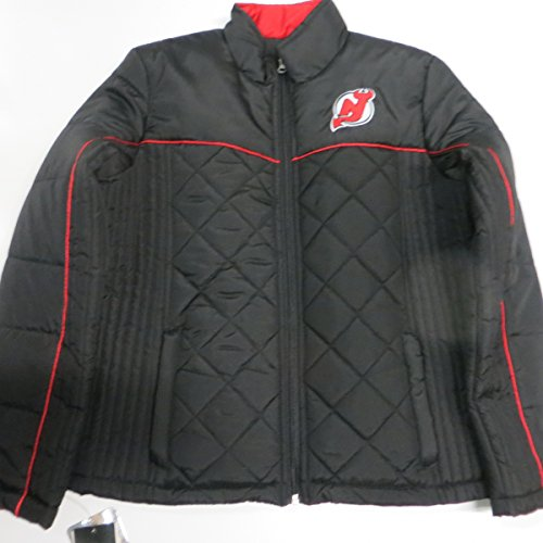 New Jersey Devils Womens Small Black Quilted Embroidered Full Zip Jacket  ANJD 3 S 60% 9638995c4