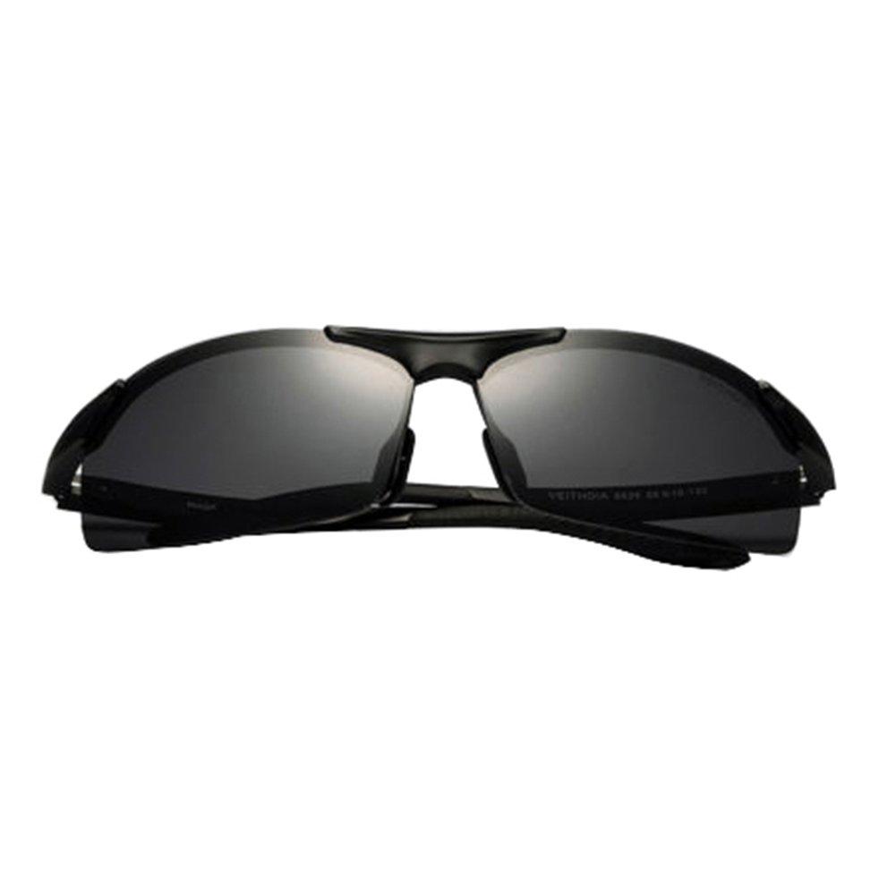 Black 2015 Aluminium Polarized Sunglasses Aviator Wayfarer Outdoor Driving Sun Glasses
