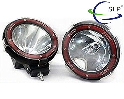 Led Light Bar, Senlips Headlight 2pcs 55w 6000k 12v 4inch Hid Xenon Work Light Off-road Light Bar Flood Beam Driving Lamp for 4wd UTE (Hid Flood Beam)