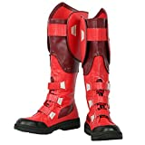 Captain Steve Roger Red PU Boots Shoes Classic Costume Cosplay Accessories