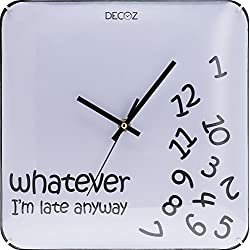Decodyne Whatever I'm Late Anyway Wall Clock