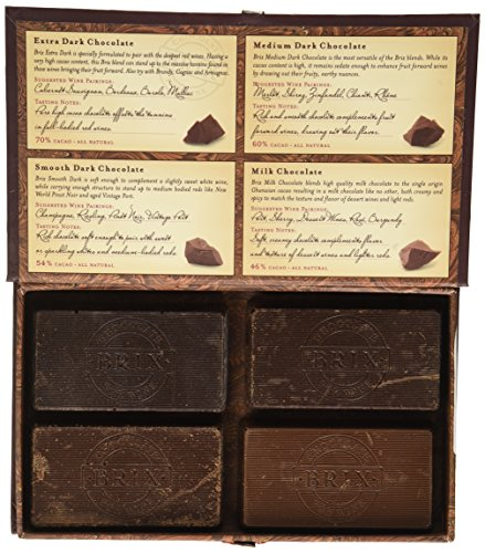 Brix Chocolate 4 Flavor Gift Set, 16 Ounce (Chocolate And Wine Gifts)