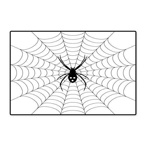 Spider Web Bath Mats Carpet Poisonous Bug Venom Thread Circular Cobweb Arachnid Cartoon Halloween Icon Customize Door mats for Home Mat 24