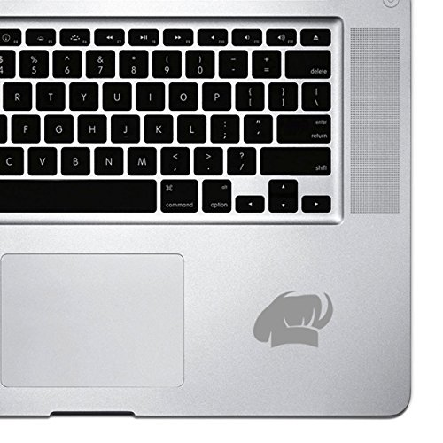 StickAny Palm Series Chef Hat Sticker for Macbook Pro, Chromebook, and Laptops (Silver)