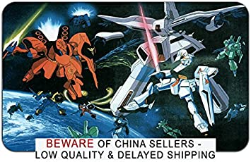 Amazon Com Mobile Suit Gundam Char S Counterattack Anime Mousepad Playmat 24 X 14 Inches Mp Mobile Suit Gundam Chars 4 Office Products