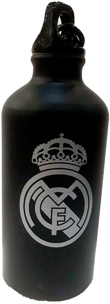 Botellin Real Madrid Negro Mate Escudo