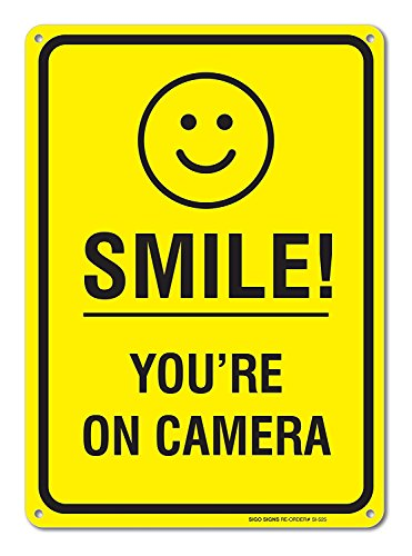 Smile Youre Camera Surveillance Aluminum