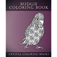 Budgie Coloring Book For Adults: 30 Hand drawn Doodle and Folk Art Style Budgerigar Coloring Pages.: Volume 6 (Fun)