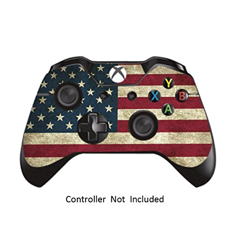 Price comparison product image Skins Stickers for Xbox One Games Controller - Custom Orginal Xbox 1 Remote Controller Wireless Protective Decals Covers - High Gloss Protector Accessories - Battle Torn Stripe
