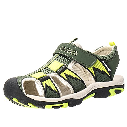 ALEADER Kids Youth Sport Water Hiking Sandals (Toddler/Little Kid/Big Kid) Army 1 M US Little (Military Boots For Boys)