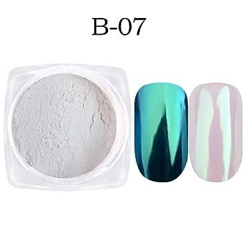 Juego De 7 Cajas De Esmalte De Uñas Con Purpurina Y Efecto Espejo Para Decoración De Manicura B 07