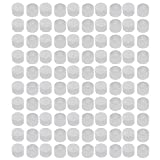 uxcell 100pcs M27 White Rubber Thread Round Cabinet Chair Leg Insert Cover Protector