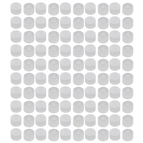 uxcell 100pcs M27 White Rubber Thread Round Cabinet Chair Leg Insert Cover Protector by uxcell