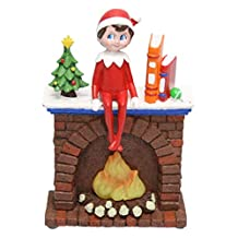 """Roman Inc. 6.75""""led ELF on the Shelf Fireplace Night Light or Table TOP Light Battery Operated with Batteries"""