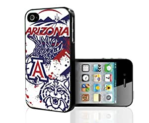University of Arizona Wildcats Blue, Red and White College Basketball Sports Hard Snap on Phone Case (iPhone 5/5s) by runtopwell