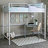 Walker Edison Furniture Sunrise Metal Twin/Loft Bunk Bed, White