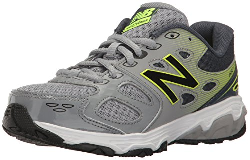 New Balance Boys' 680 V3 Running Shoe, Grey 1/Hi-Lite, 5.5 W US Big Kid