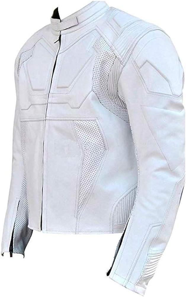 Xs-5xl Material Classyak Fashion Oblivion Leather Jacket White