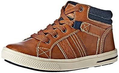 Clarks Boys Brodie Shoes, Brown, 1 AU/US