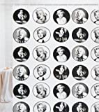 Crystal Bay City Marilyn Monroe Shower Curtain