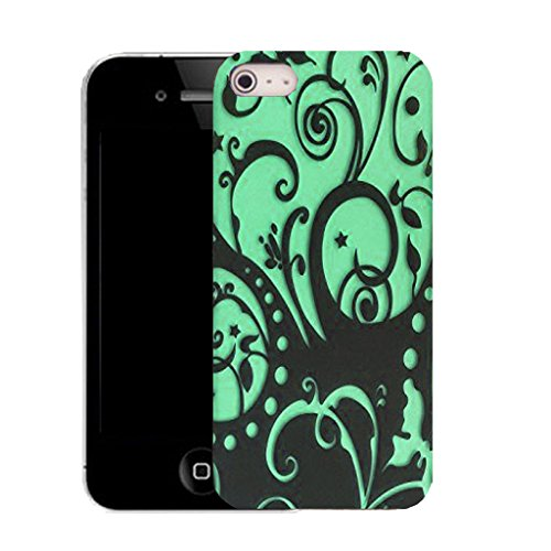 Mobile Case Mate IPhone 4 clip on Silicone Coque couverture case cover Pare-chocs + STYLET - AQUA ENTANGLEMENT pattern (SILICON)