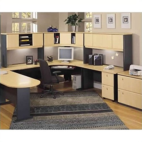 (Bush Business Series A U-Shape Home Office Suite in Beech and Grey )