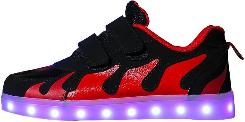 edv0d2v266 Boys /& Girls /& Kids LED Light Up Shoes Flashing Sneakers