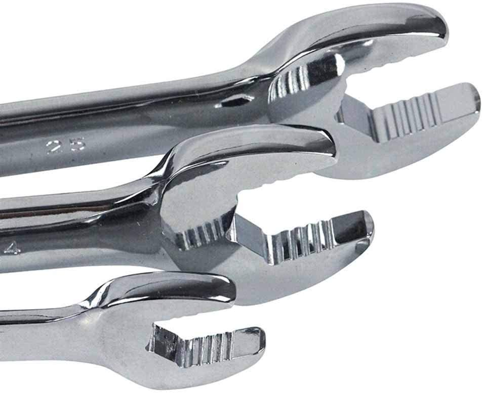 Wrench Set 2pcs CR-V Open Wrench Spanner Two-end Wrenches Anti-Slide Wrenches Repair Tools to Bike Motorcycle Multi-Function Wrench (Color : LA315410) La315409