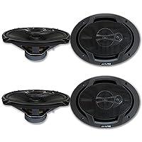 4 x Alpine 6x9-inch 3 way Car Audio Coaxial Speakers 6x9