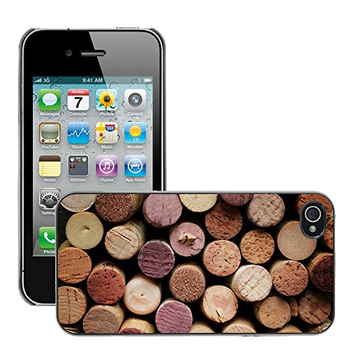 Premio Sottile Slim Cassa Custodia Case Cover Shell // V00001996 vin de Cork // Apple iPhone 4 4S 4G