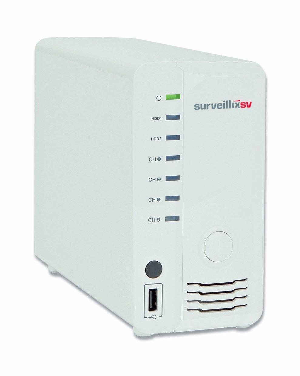 Toshiba ESV4-1T Surveillix SV 4-Channel Network Video Recorder (White) [並行輸入品] B019SZDIJ2