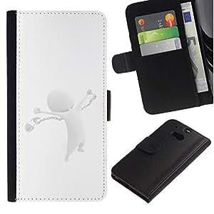 All Phone Most Case / Oferta Especial Cáscara Funda de cuero Monedero Cubierta de proteccion Caso / Wallet Case for HTC One M8 // White Abstract