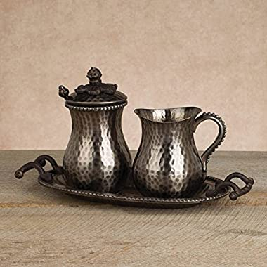 GG Collection Cream & Sugar Set - Antique Silver
