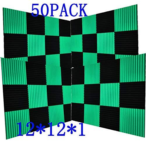 50 Pack -Black Acoustic Panels Studio Foam Wedges 1