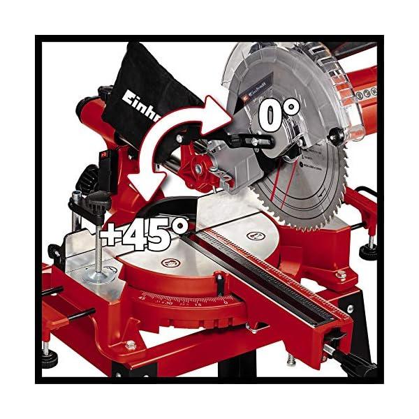 Einhell Sierra de inglete TC-SM 2531/2 U (1900 W, función de deslizamiento para piezas de hasta 310 mm, Ø254 x ø30 mm…