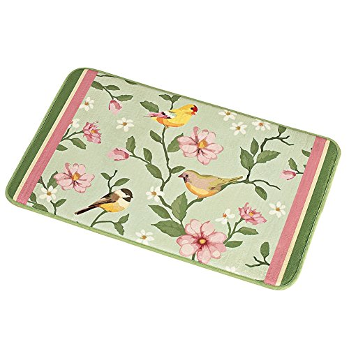 Birds Flower Garden Backing Polyester