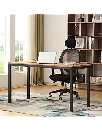Nice office desk Shaped Save On Auxley 742271416875 Computer 55 Inch Modern Simple Writing Desk For Home Double Deck Wood Amazoncom Home Office Desks Amazoncom