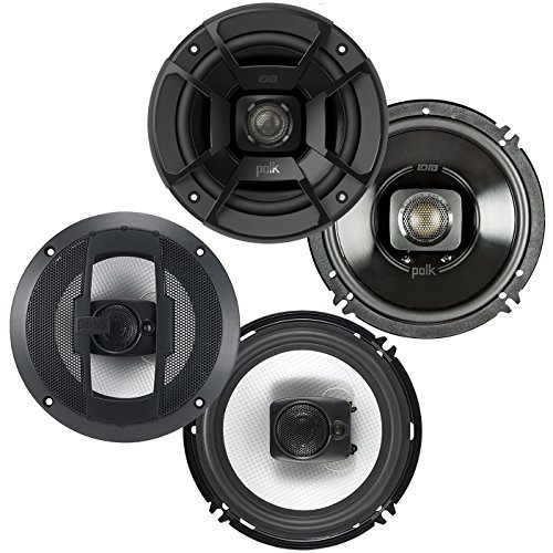 Polk Audio 6.5-Inch 300W 2 Way Speakers + Boss 6.5-Inch 300W 3 Way Speakers