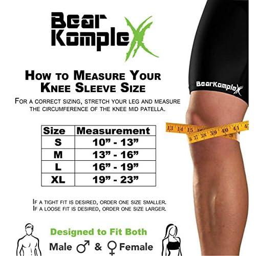 31f15362f5 Bear KompleX Knee Compression Sleeves : LITE Neoprene Knee Support Sleeve  for Men & Women -